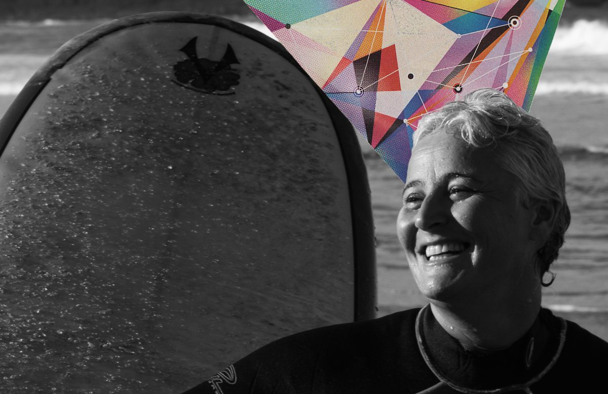 Marta Dalla Chiesa - Gay Surf Brazil - capa podcast Flamboiar VAsurfarGINA